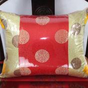 Decorative pillowcase chinese sofa cushions retro brocade fabric embroidery pillow-K 40x50cm(16x20inch)Version A