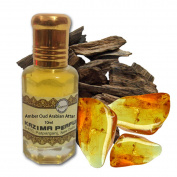 Amber Oud Arabian Attar Perfume (10 ml) - Pure Natural Undiluted (Non-Alcoholic) , By Kazima