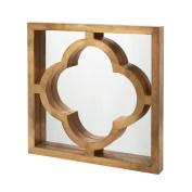 Mercer41 Quatrefoil Brass Clad Mirror