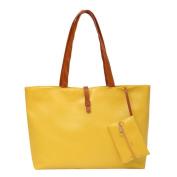 Women Fashion Faux Leather Tote Shoulder Bags Handbags Satchel Purse with Wallet