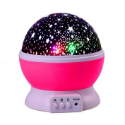 GoodPro Romantic Led Night Lamp Rotating Starry Star Moon Sky Rotation Night Lighting Projector Lamp Kids Children Baby Sleeping Lights