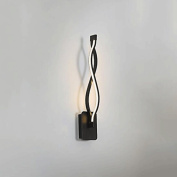 GUO YUN Wall Light Creative Minimalist Postmodern Lamp Art Living Room Wall Lamp Corridor Aisle Staircase Light Led Bedroom Bedside Lamp Curve After The Modern Personality Wall Light Warm White Light 16.8w