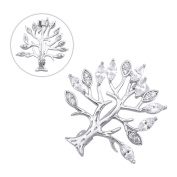 Brooches and Pins /Lapel Stick Pin/Silvery Copper Composites /Life Tree with Rhinestone High-end 32mmx32mm