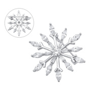 Brooches and Pins /Lapel Stick Pin/Silvery Copper Composites / Snowflake with Rhinestone High-end 30mmx30mm