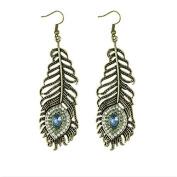 Lanaso Peacock Dangle Earrings Drop Dangle Earrings Hoop Earrings Pendant Earrings