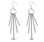 Lanaso Five Stick Earrings Dangle Earrings Hook Earrings Pendant Earrings Silver Earring drops