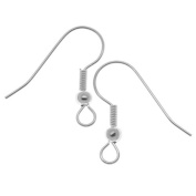 Cdet 100Pcs Earring Fish Hook Jewellery Findings Crafts DIY Making Beads Silver
