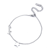 """Lucky"" Five-pointed Star Adjustable Chain Anklet Bracelet Women Girls Stainless Steel Anklets Foot Jewellery"
