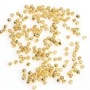 FENGLANG 500pcs Silver/Golden/Copper Rondelle Crimp End Finding For DIY Spacer Beads