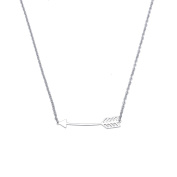 Love Arrow Pendant Necklace for Women Lady Girl Stainless Steel Adjustable Chain Fashion Jewellery