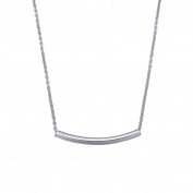 Bend Tube Pendant Necklace for Women Lady Girl Stainless Steel Adjustable Chain Fashion Jewellery