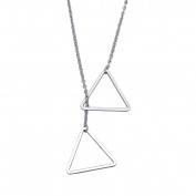 Triangle Geometry Pendant Necklace for Women Lady Girl Stainless Steel Adjustable Chain Fashion Jewellery