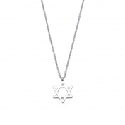 Pentagram Pendant Necklace for Women Lady Girl Stainless Steel Adjustable Chain Simple Fashion Jewellery