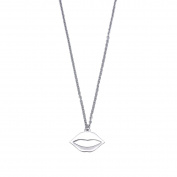 Lips Pendant Necklace for Women Lady Girl Stainless Steel Adjustable Chain Simple Fashion Jewellery