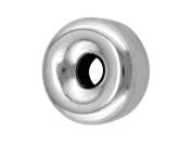 Sterling Silver Beads Plain Flt, 5mm, 2 Hole Bead