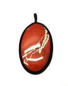 GEM MART EU Macrame Pendent,Blood Stone Macrame Pendent,Handmade Natural Gemstone Pendant,Boho Pendant.