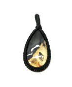 GEM MART EU Macrame Pendent,Moss Agate Macrame Pendent,Handmade Natural Gemstone Pendant,Boho Pendant.