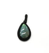 GEM MART EU Macrame Pendent,Blue Fire Labradorite Macrame Pendent,Handmade Natural Gemstone Pendant,Boho Pendant.