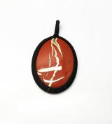 GEM MART EU Macrame Pendent,Red Jasper Macrame Pendent,Handmade Natural Gemstone Pendant,Boho Pendant.