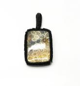 GEM MART EU Macrame Pendent,Forsal Coral Macrame Pendent,Handmade Natural Gemstone Pendant,Boho Pendant.