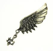 Fablcrew Fashion Brooch Pin Retro Wings Wedding Bridal Brooch Pin for Men Women Lady