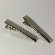 10 x silver tone metal alligator hair clips with a 40mm x 8mm
