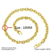 20 inch 10Cm Lock Necklace in the High-End Jewellery Plated Necklace , gold