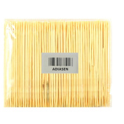 ADIASEN 200pcs Natural Bamboo Party Cocktail Sticks Toothpicks Hotel Household Disposable