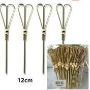 ADIASEN 50pcs 12cm Natural Bamboo Scissors Party Cocktail Toothpicks Sticks Sandwich Fruit