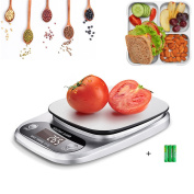 Kitchen Scales Digital Scale,22lb/10KG Electric Scales Small Kitchen Appliances Stainless Steel,Mini Scale Smart Water Proof with LCD Display, Accurate Gramme,Tare Function Calibrated for Home,Kitchen