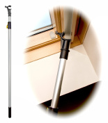 WinHux® Telescopic Window Pole Rod Designed to Control VELUX® Skylight Roof Windows AND Blinds 1.1-2.0m SILVER