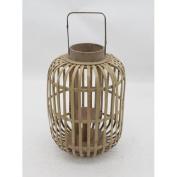 Loon Peak Bamboo and Glass Lantern