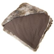 Natico Coyote Faux Fur Throw Blanket