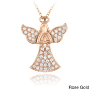 Crystal Ice Sterling Silver And Crystal Praying Angel Necklace with Elements