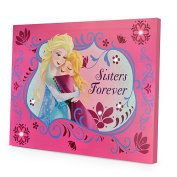 Linen Depot Direct Disney Frozen Sisters Forever LED Canvas Wall Hanging