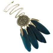 Dream Catcher Necklaces Feather Tassel Pendant Long Chain
