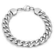 HMY jewellery Stainless Steel Curb Bracelet