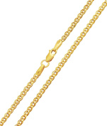 Gold Chain Necklace Nonnakette Double Curb Chain Choker Necklace 333 8kt x 2,40 mm