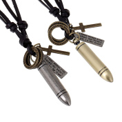 Yiwa Creative Retro Bullet Necklace Fashion All-match Pendant Necklace Christmas Gifts
