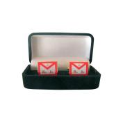 Masonic Cuff Link With Gift Box – MB REAA Apron