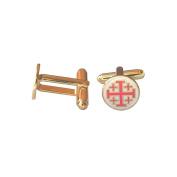 Masonic Cuff Link Cross of St John of Jerusalem