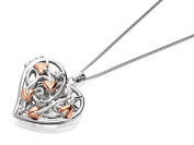 Clogau Silver And 9ct Rose Gold Fairy Locket And Chain Necklace Pendant Jewellery