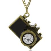MESE London Photo Camera Necklace Bronze Photography Pendant - Free Gift Box