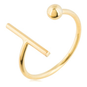 Cordoba Jewels |sortija in 925 Sterling Silver Gold Vermeil with Design Parallel Gold