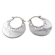 Large 925 Polished Silver Creole Hoops Earrings Gift Boxed
