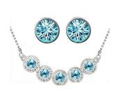 Women elem. Set Necklace Bracelet Earrings Heart Bracelet