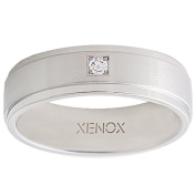 Xenox X2226 56 Ladies Ring XENOX & Friends Stainless Steel White Cubic Zirconia 7 mm, size O