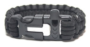 Paracord Survival Bracelet 27cm Length (3m undone) with Fire Starter and Whistle Built In - By Survival Gear Authority(TM)