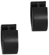 Surgical Steel Black IP Plated Thick 0.6cm Huggie Hoop Earrings for Men