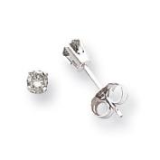 14k White Gold Single Stud Diamond Earring - .13 dwt